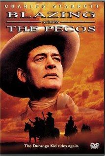 Blazing Across the Pecos (1948) cover