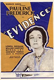 Evidence 1929 poster