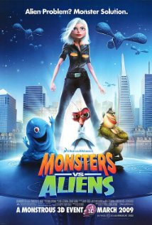 Monsters vs Aliens (2009) cover