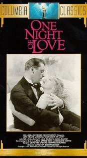 One Night of Love (1934) cover