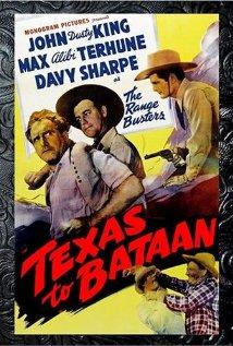 Texas to Bataan 1942 poster