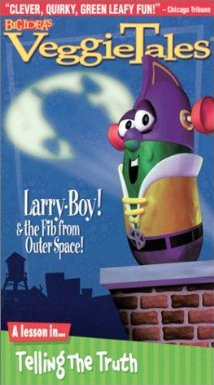 Larry-Boy! And the Fib from Outer Space! (1997) cover