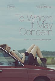To Whom It May Concern 2015 poster